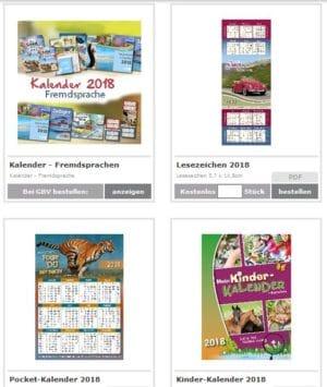 Kalender 2018 gratis bestellen